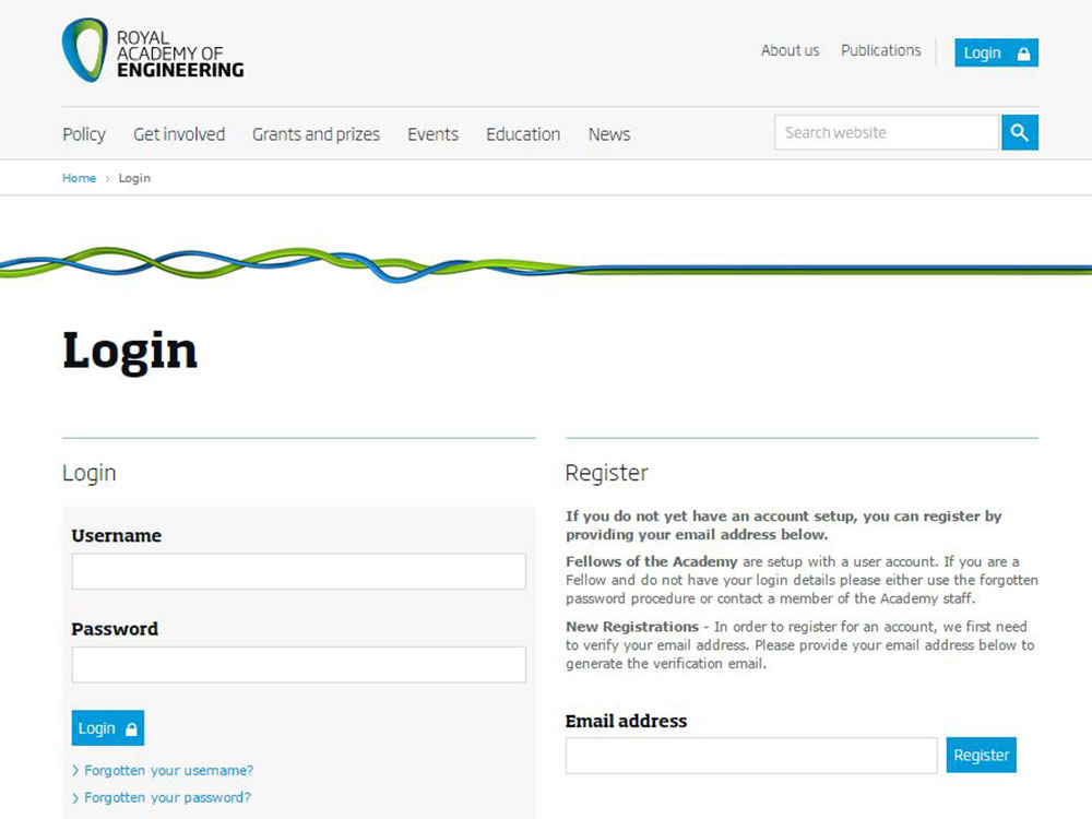 Case Study - Royal Academy of Engineering screenshot
